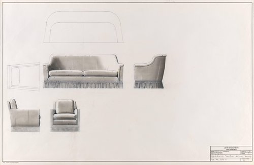 Upholstered furniture designs for lounge, 21 McGill Street