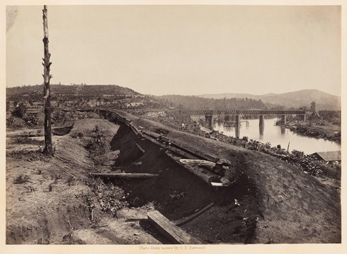 Defenses of the Etawah Bridge, from Photographic Views of Sherman's Campaign