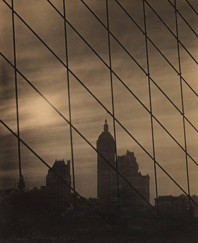 Cables—Singer Building, Late Afternoon. Brooklyn Bridge