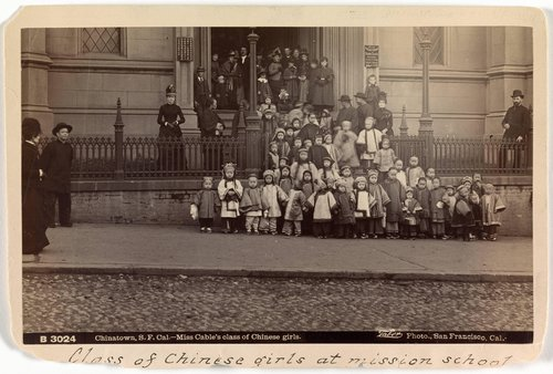 Chinatown, San Francisco, California, Miss Cable's Class of Chinese Girls