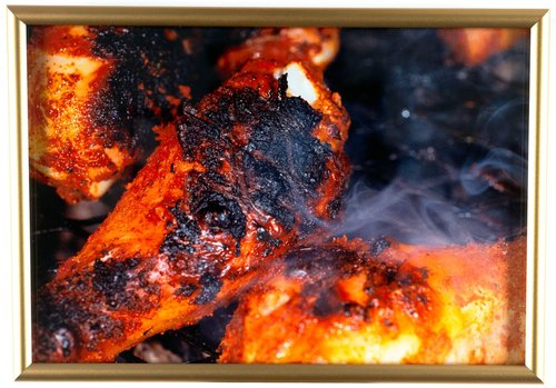Untitled [burnt chicken legs], from the series British Food