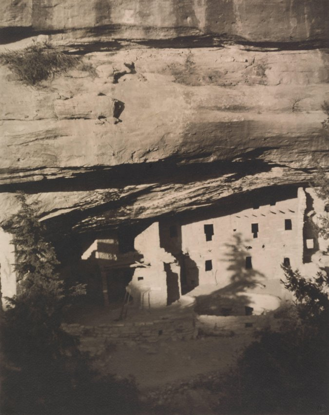 image of Spruce Tree House. Mesa Verde National Park. From Photographs of the Southwest