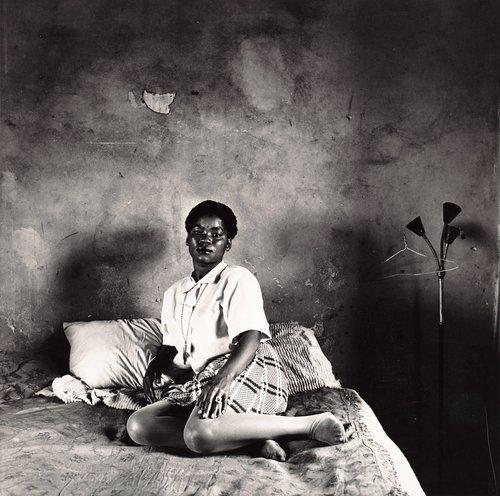 Mrs. Miriam Diale in her bedroom, 5357 Orlando East, October 18, 1972