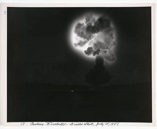 Atomic Tests in Nevada [Cooling fireball - Diablo Shot, July 15, 1957]