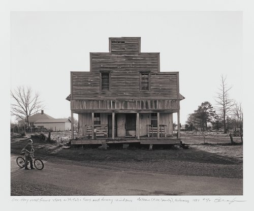 One-story wood frame store building with false front and dummy windows, Nathan (Pike County), Arkansas, from the series Of the Soil