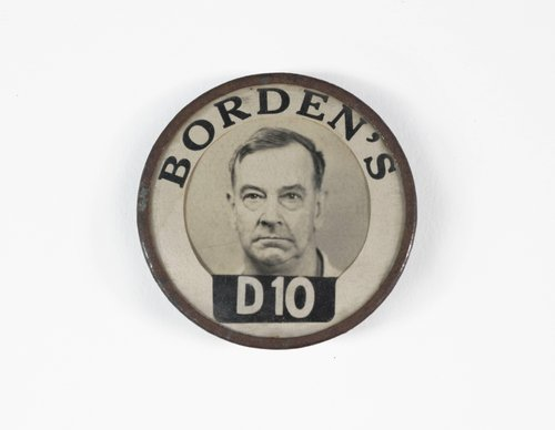 Untitled [Identification badge from Borden's]