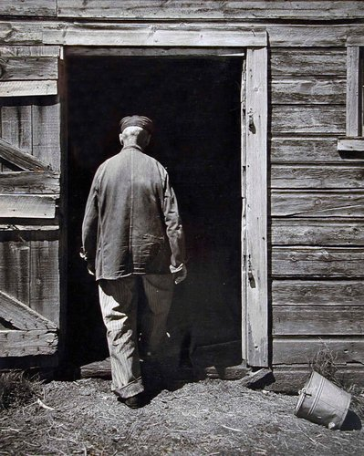 Uncle Harry Entering Barn, Home Place
