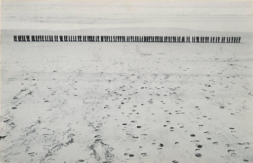 100 Boots Facing the Sea, from the series 100 Boots, a set of 51 photo-postcards