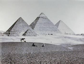 Pyramids of El-Geezah from the Southwest