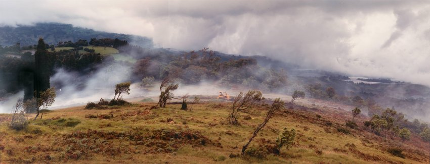 image of Clearing Land for Agriculture on the Slopes of Poás Volcano, near Fraijanes, Costa Rica, 1992, from the series No Ordinary Land