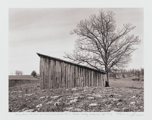 Storage barn of plain vertical board construction, Boone County, Arkansas