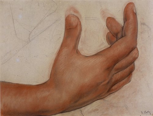 Untitled (Hand), study for the mural Creation, National Preparatory School, Mexico City