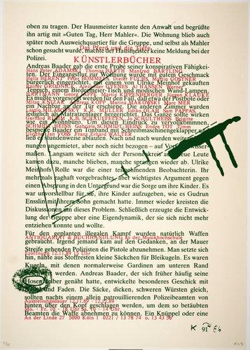 Das Pferd und die Tiefe Künstlerbücher (The Horse and the Abyss Artists' Books), from the portfolio Mut zum Druck (Courage to Print)