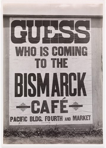 Bismarck Café Billboard