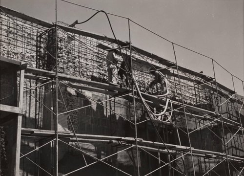 Untitled [Scaffolding on building]