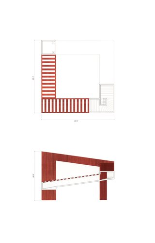 Speaking Architecture [Library elevation and plan]