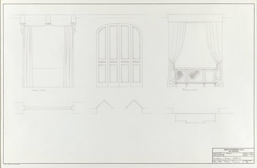 Window and door detail for Mr. and Mrs. Peter Selz