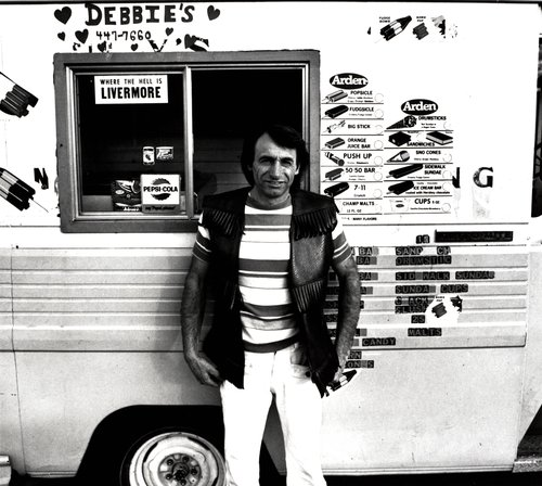 "Untitled [Ice cream man—""Debbie's 447-7660""], from the series Working (I Do It For The Money)"