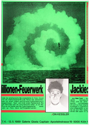 Millionen Feuerwerk/Jackie (Multimillion-Dollar Firecracker/Jackie), from the portfolio Mut zum Druck (Courage to Print)