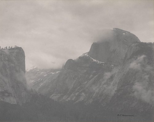 Half Dome and El Capitan, Winter in Yosemite Valley