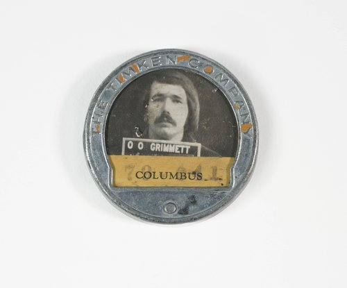 Untitled [Identification badge from the Timken Company]