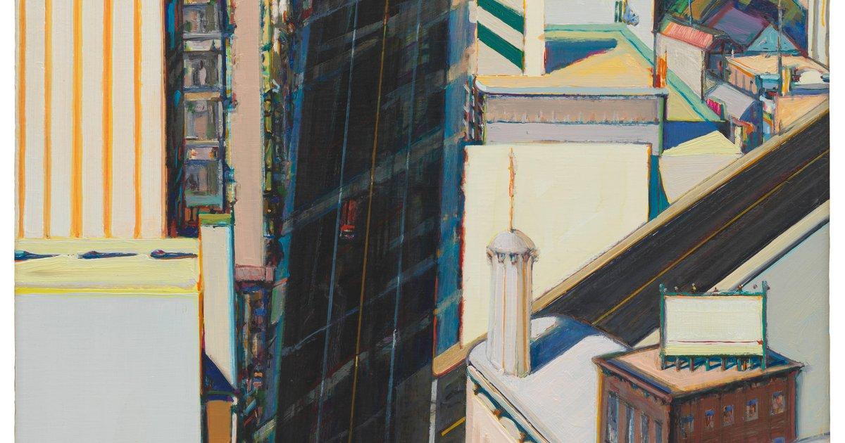 Wayne Thiebaud Sunset Streets 1985 183 Sfmoma