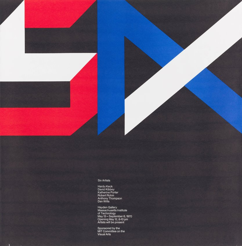 image of Six Artists, Massachusetts Institute of Technology poster