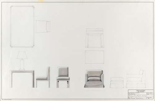 Study for furniture designs for Mr. David Sandberg