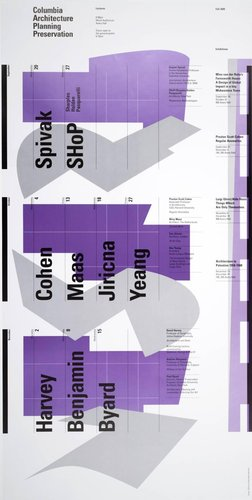 Columbia University School of Architecture, Planning, and Preservation, Fall 2000 Lecture Series Poster