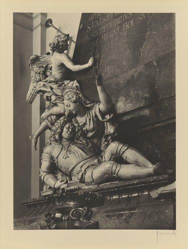 F. M. Brokoff: Náhrobek václava vratislava z mitrovic z roku 1716 (F. M. Brokoff: Tombstone of Count Vratislav of Mitrovice from 1716, from the portfolio Jakubský Cyklus)