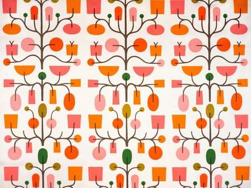 Fruit Tree #1065 Drapery Fabric