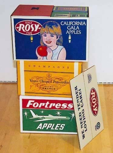 image of 'Untitled (Rosy/Veuve Clicquot/Fortress Apple Cartons)'
