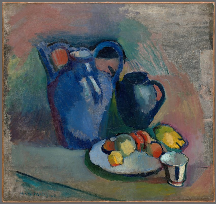 image of 'Nature morte à la cruche bleue (Still Life with Blue Jug)'