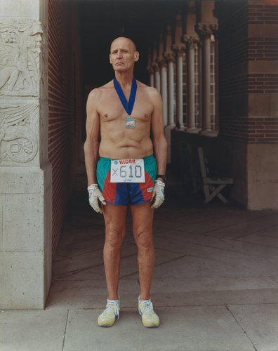 A Man Who Has Just Completed the Los Angeles Marathon, California, March 1988, from the series Stranger Passing
