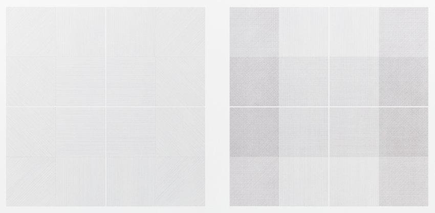 image of Wall Drawing 1: Drawing Series II 18 (A & B)
