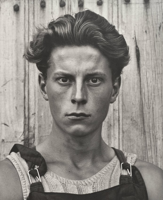 image of 'Young Boy, Gondeville, Charente, France, from Paul Strand: Portfolio Three'