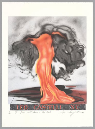 The Flame Dances on Leo's Book, from the Leo Castelli 90th Birthday portfolio