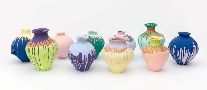 Ai Weiwei Colored Vases 2007 Sfmoma