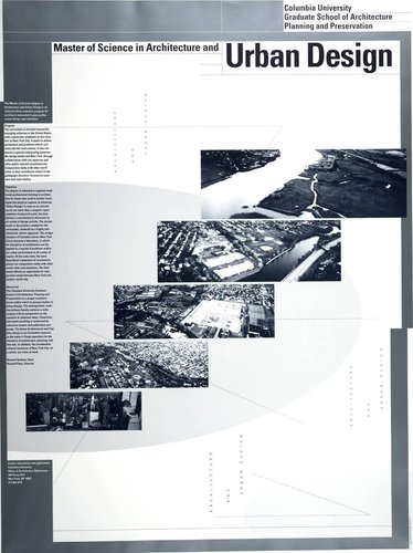 Columbia University, Master of Science in Architecture and Urban Design Poster