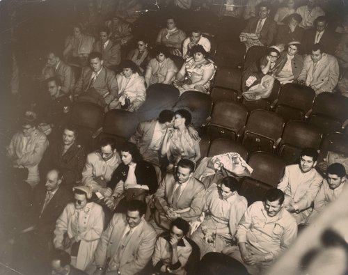 Audience in the Palace Theater [infrared negative]
