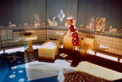 New Bathroom/Woman Standing/Sunlight