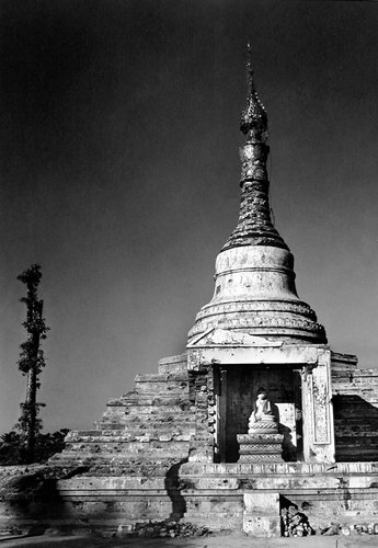 Buddha Seated in the Dagoba, Burma