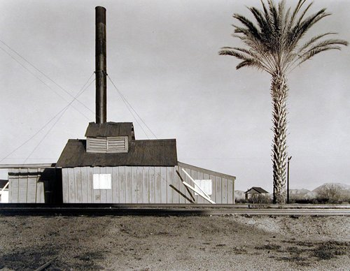 Powerhouse and Palm Tree, Near Lordsburg, New Mexico
