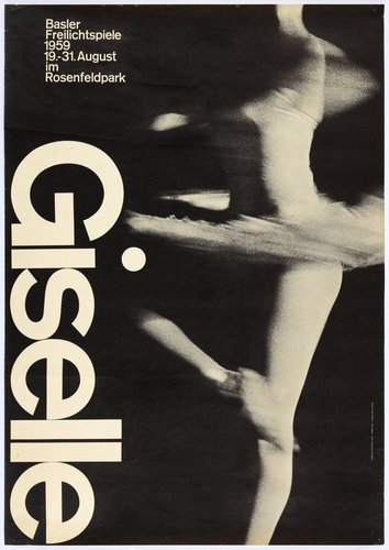 Giselle ballet, Basler Freilichtspiele poster