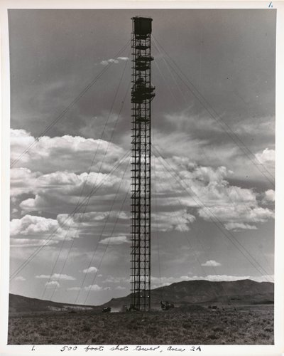 Atomic Tests in Nevada [500 foot shot tower, Area 2A]