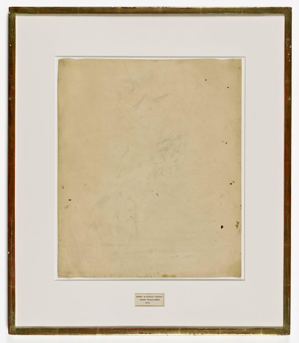 Erased de Kooning Drawing