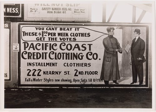 Pacific Coast Credit Clothing Co. Billboard
