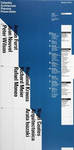 Columbia University School of Architecture, Planning, and Preservation, Spring 1990 Lecture Series Poster