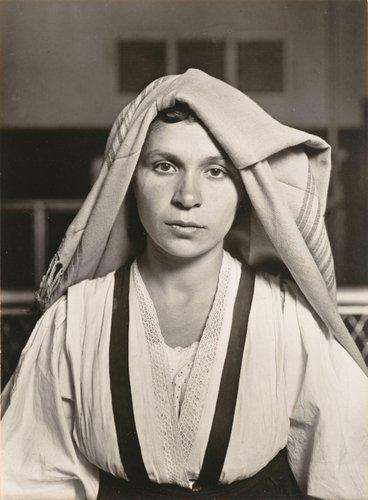 Woman with Folded Headdress, Ellis Island, NY