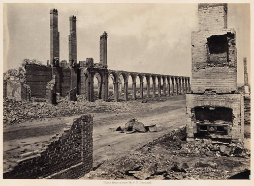 Ruins of the Railroad Depot, Charleston, South Carolina, from Photographic Views of Sherman's Campaign